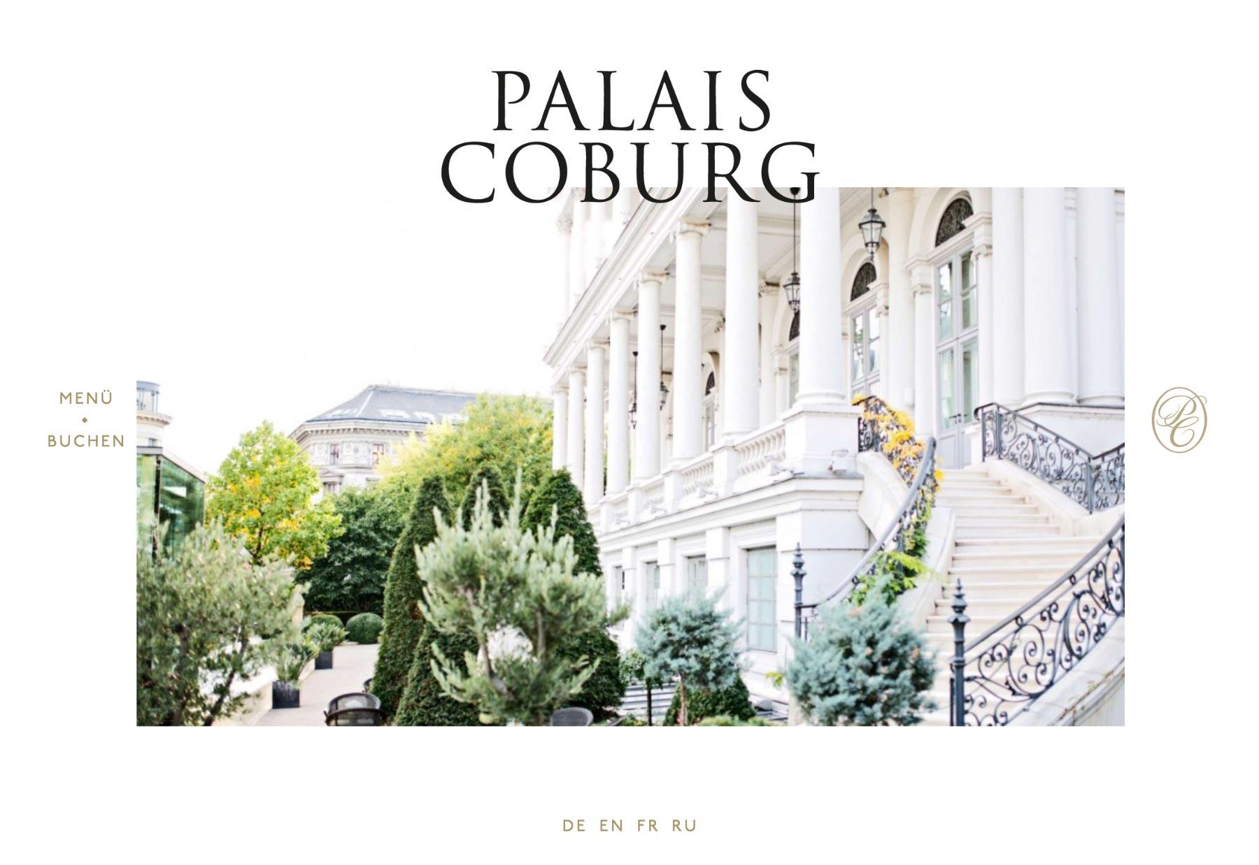 Diseño web hotel Palais Coburg