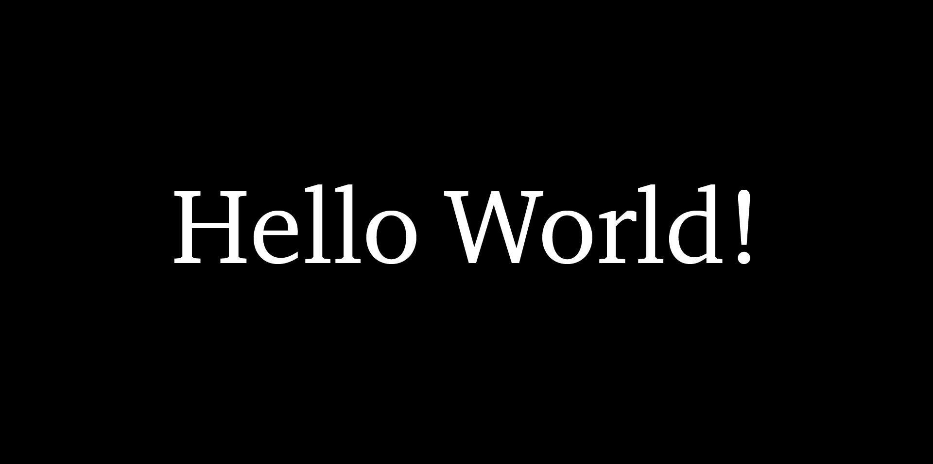 Hello world blog