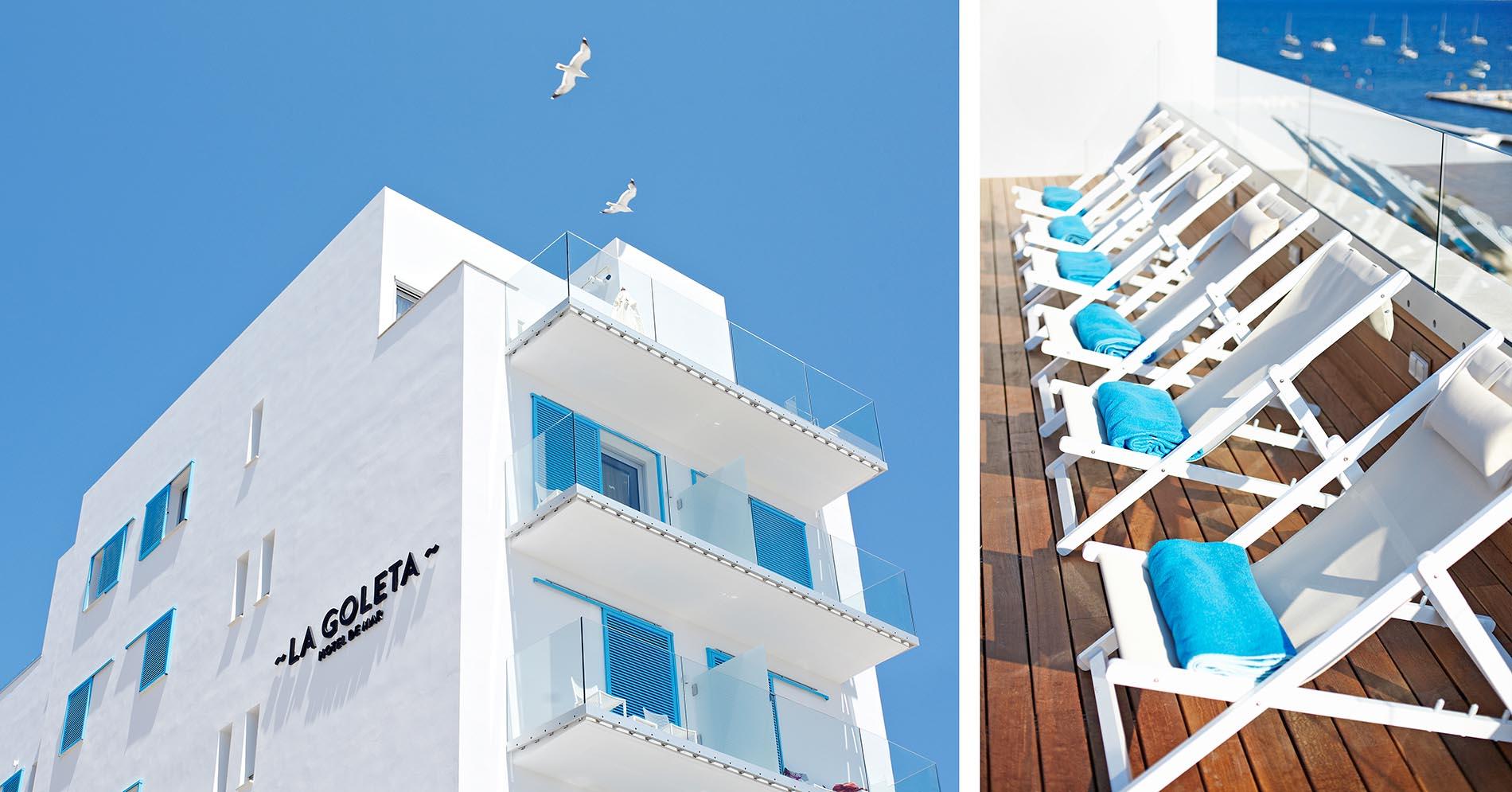 La Goleta hotel de mar branding exteriores