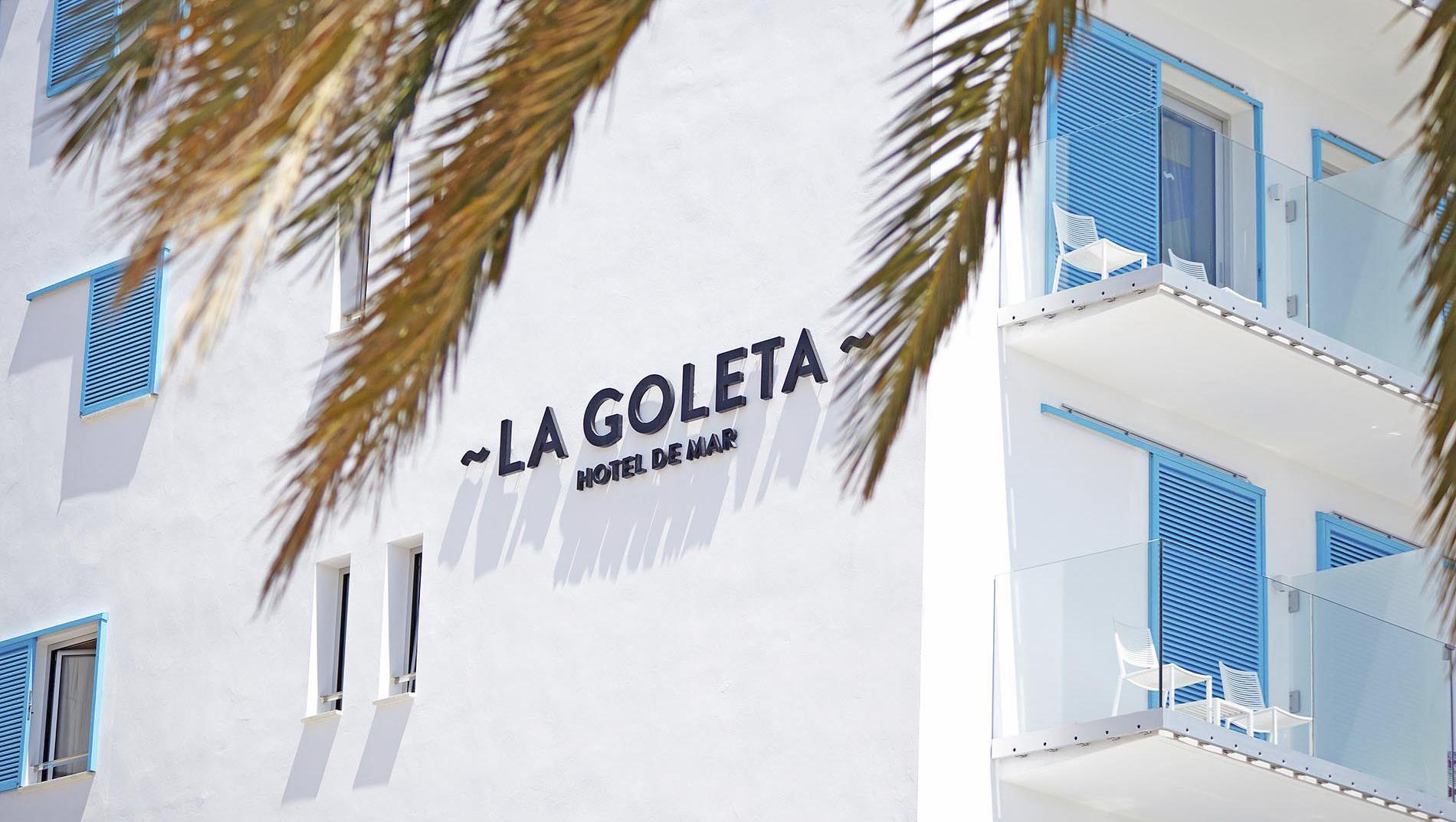 La Goleta hotel de mar branding fachada