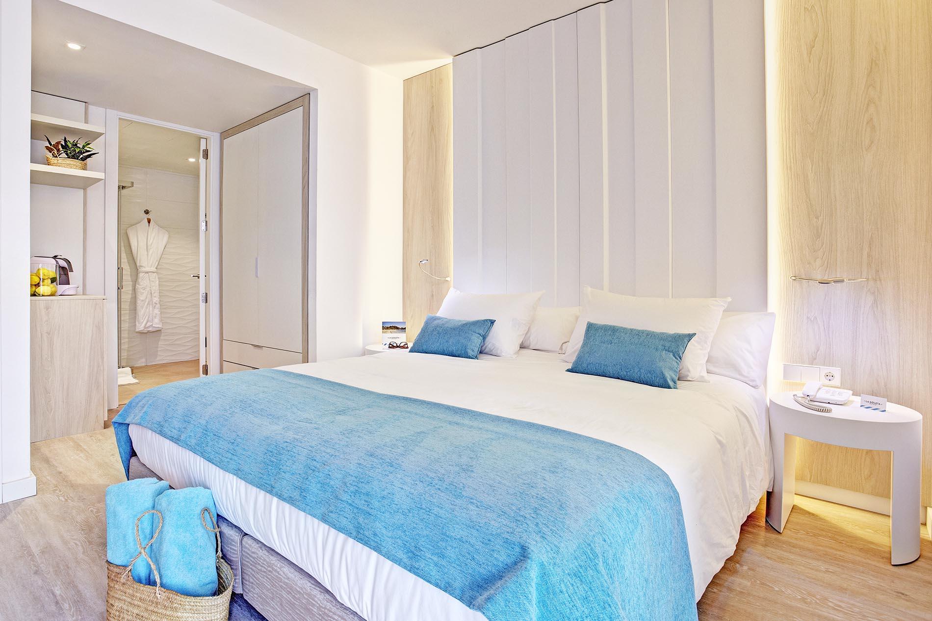 La Goleta hotel de mar photoshooting habitación