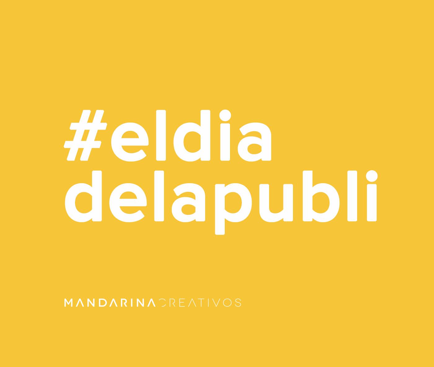 Mandarina El día de la publi hashtag