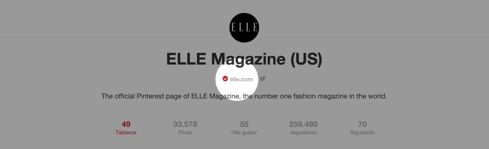 Pinterest empresas Elle url