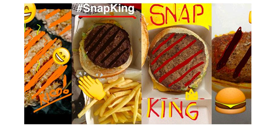 Snapchat ejemplo Burger King