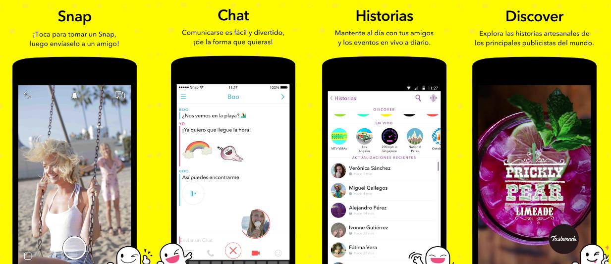 Snapchat qué puedo hacer