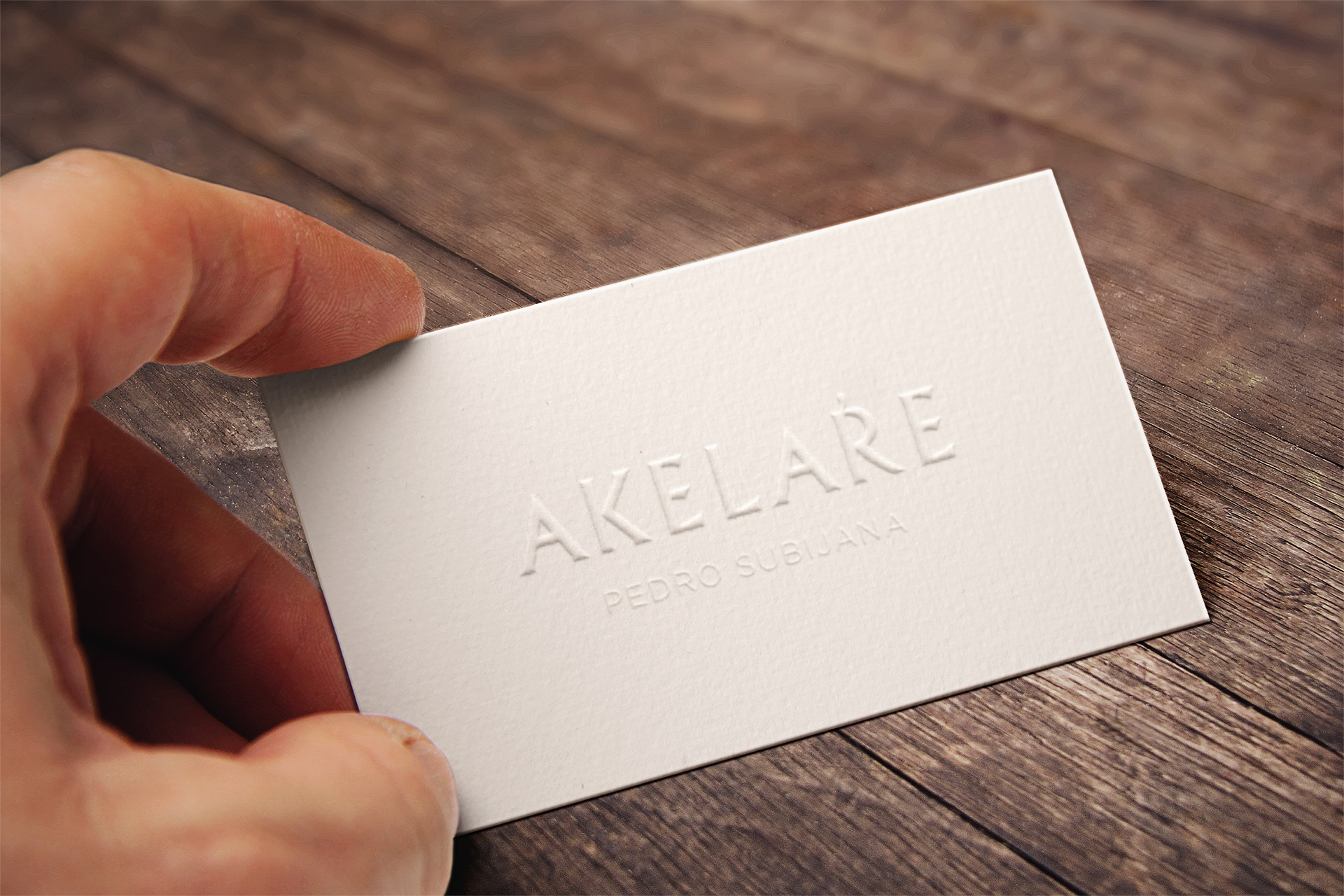 Tarjeta visita Akelarre