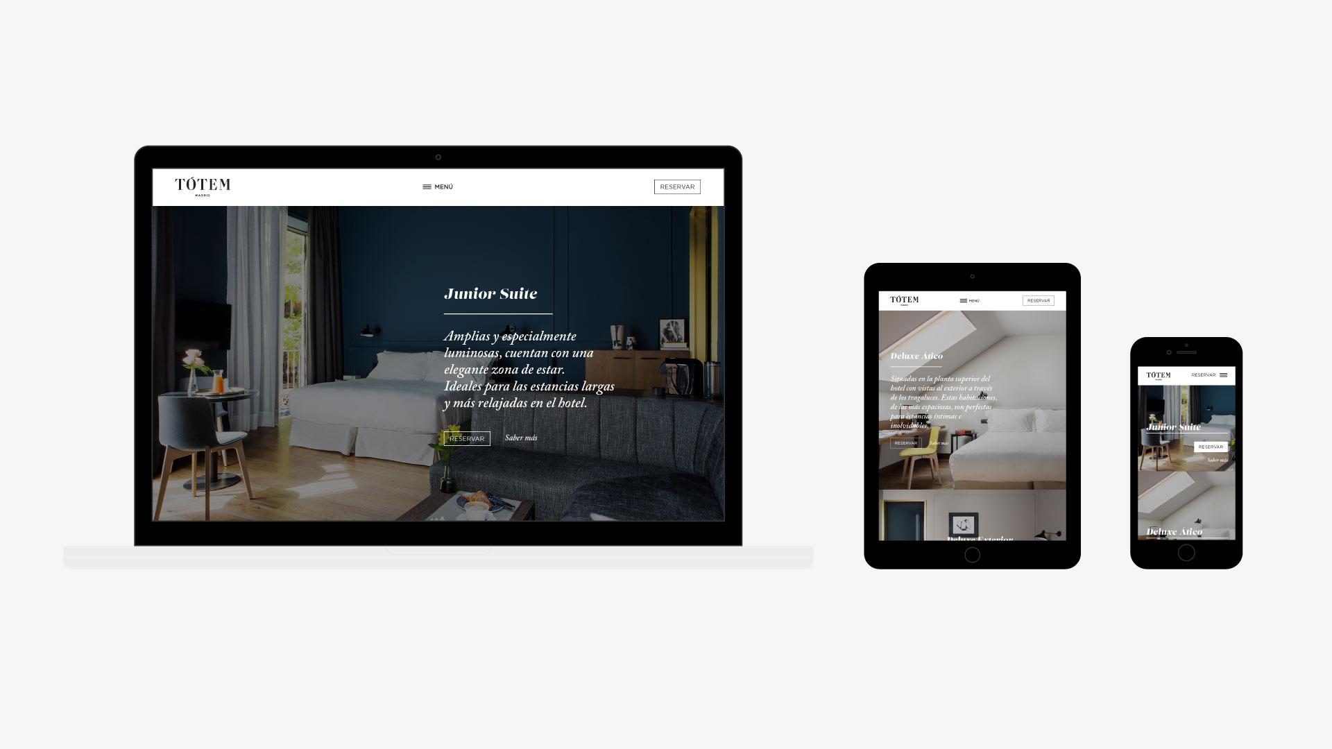 Tótem Madrid hotel web responsive