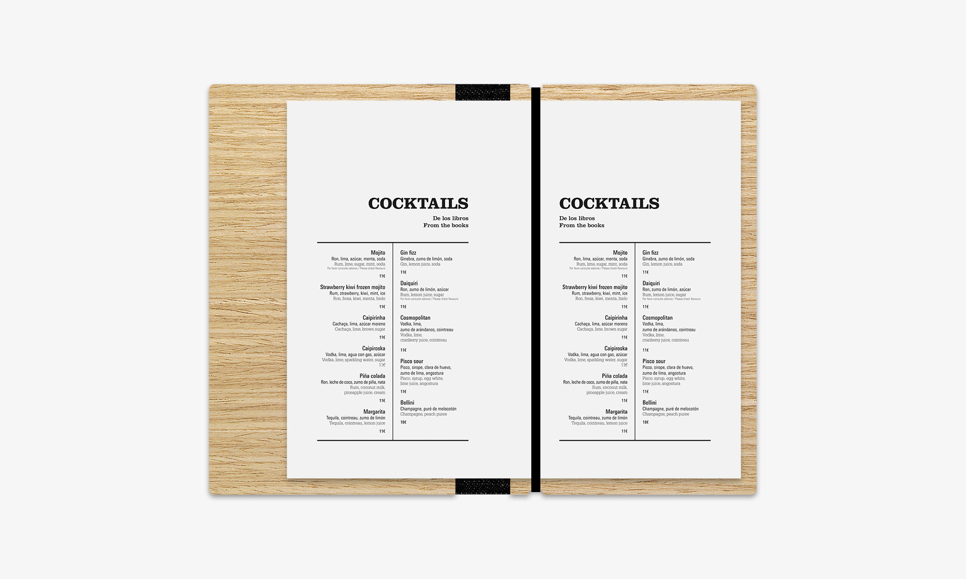 Aguas de Ibiza cartas Alabastro detalles cocktails