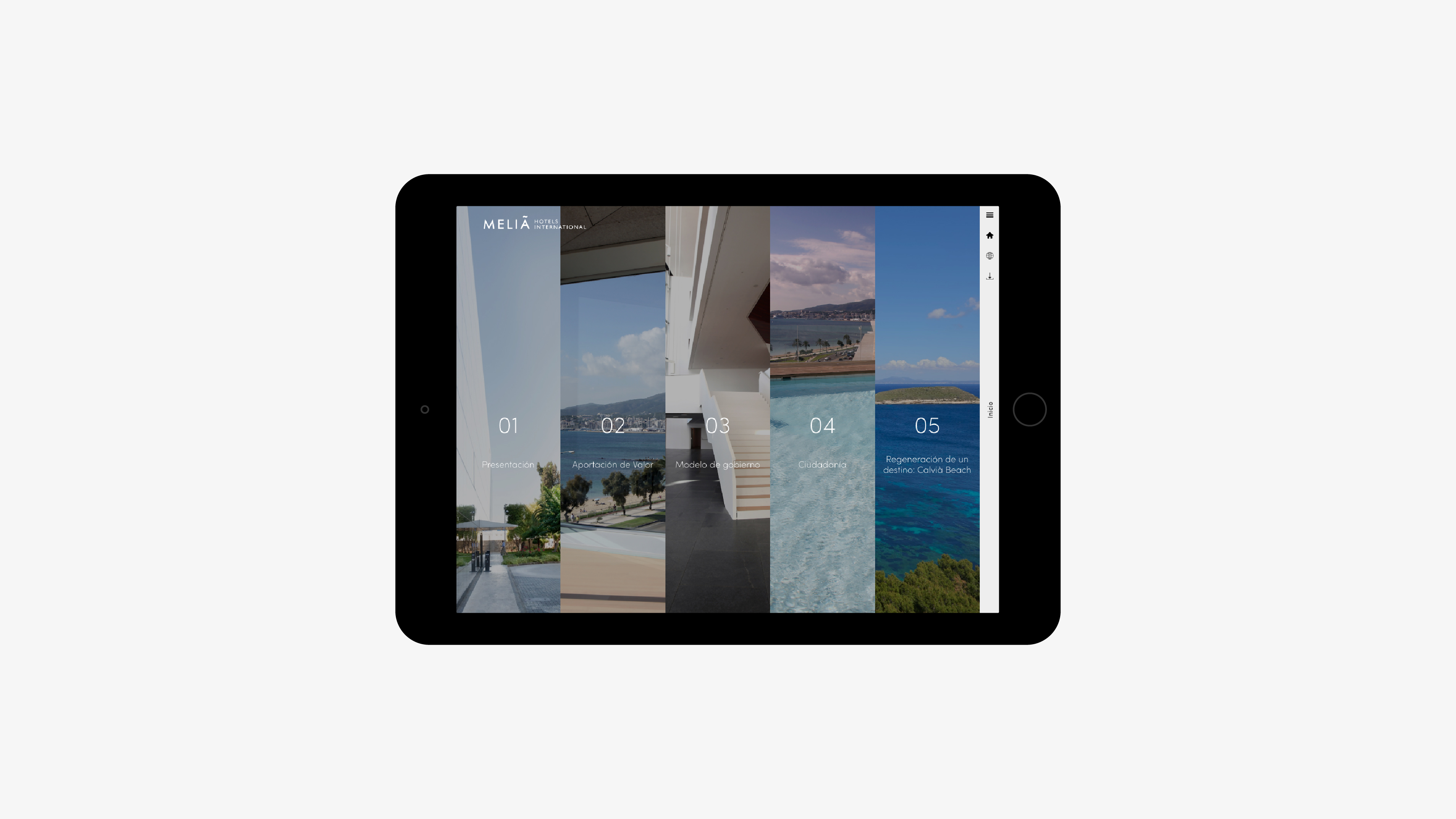 Meliá Hotels International anual report 2016 tablet