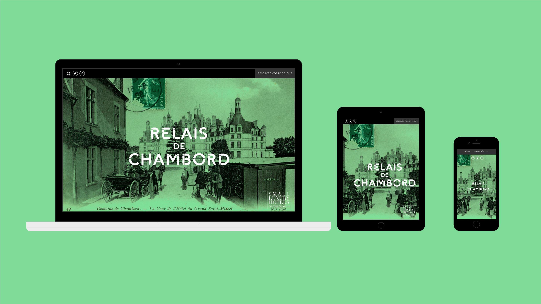 Relais de Chambord diseño web desktop tablet mobile
