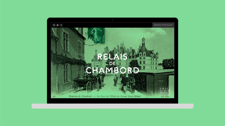Relais de Chambord diseño web home