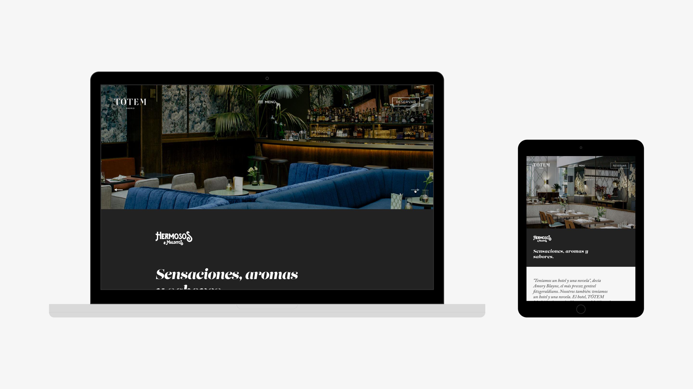 Tótem Madrid hotel web coctelería hermosos y malditos