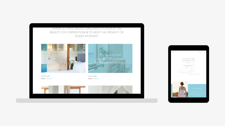 Gecko hotel diseño web detalle habitaciones