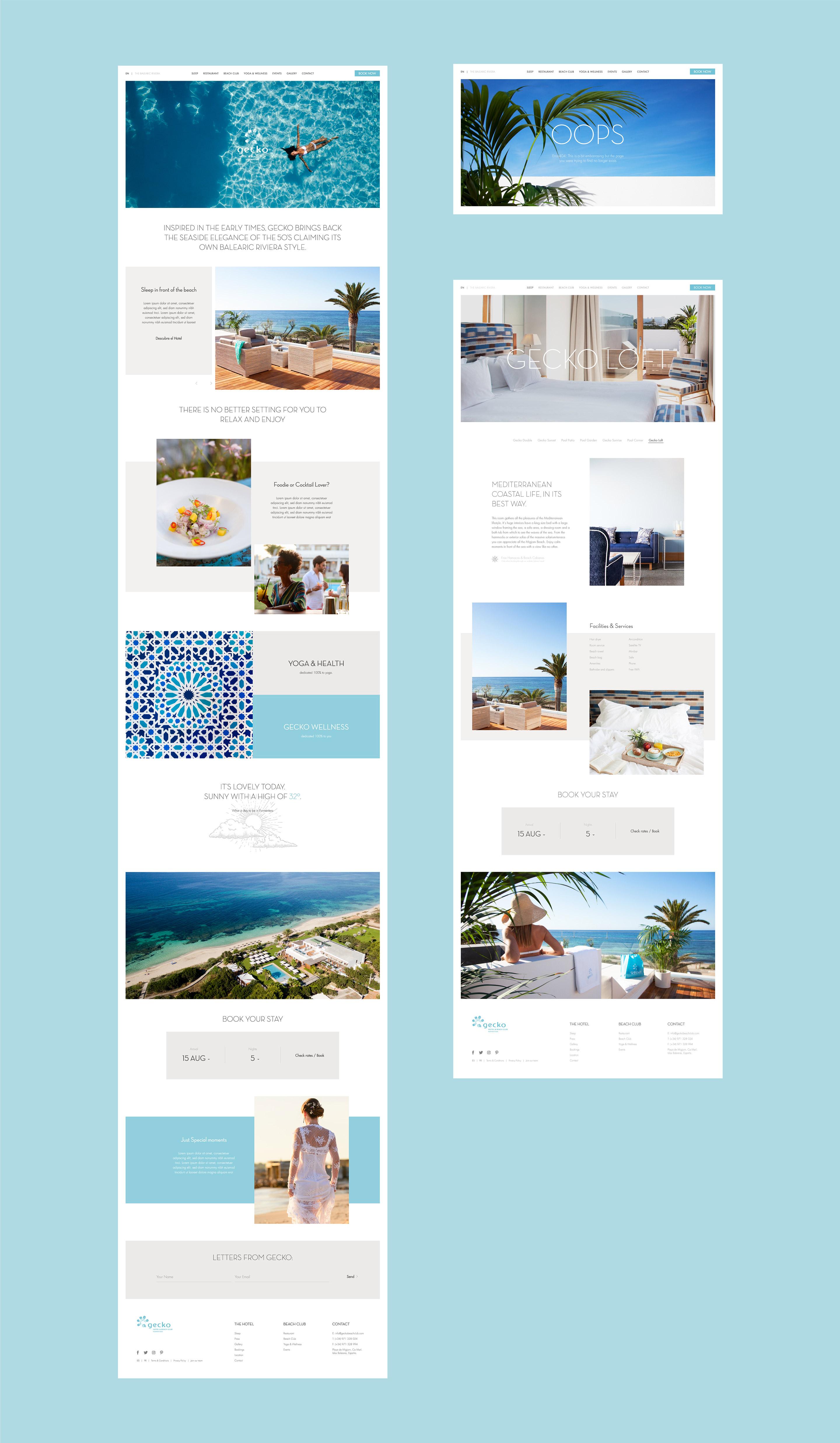 Gecko hotel diseño web página detalle