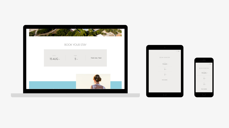 Gecko hotel diseño web detalle reservas