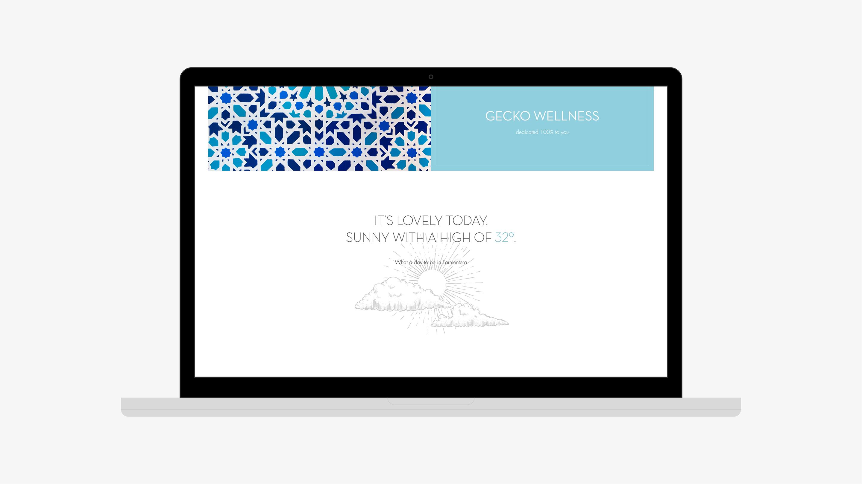 Gecko hotel diseño web detalle weather