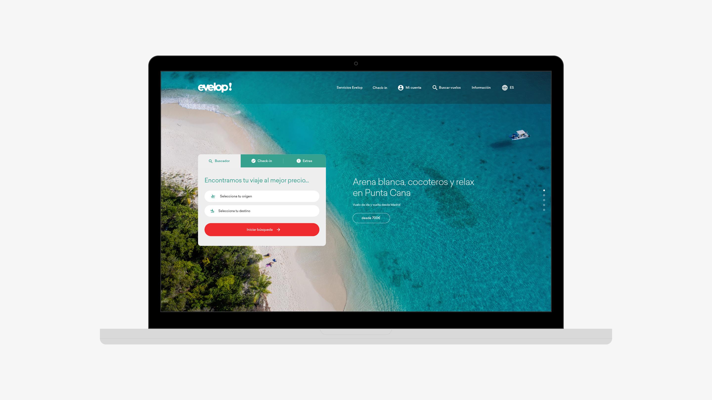 Evelop diseño web reservas