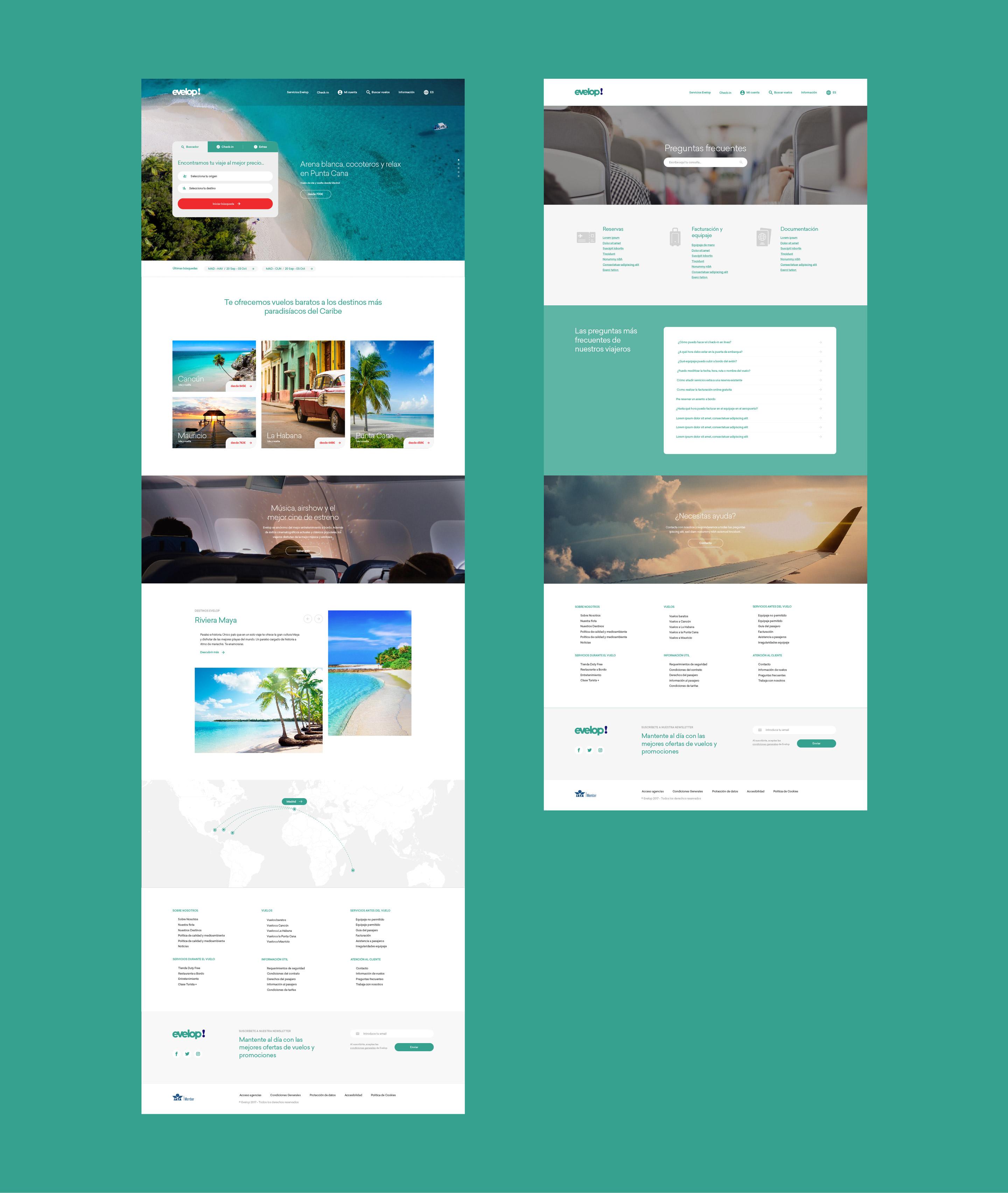 Evelop diseño web páginas detalle