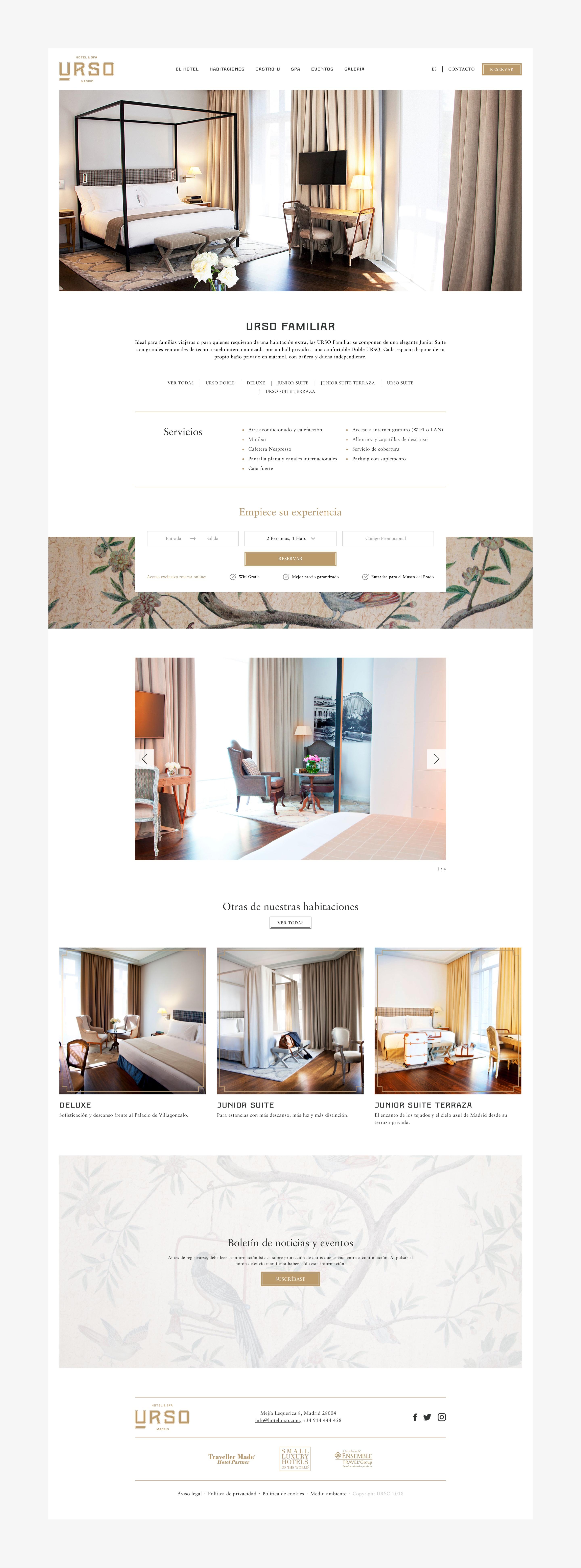 Urso hotel web detalle habitación