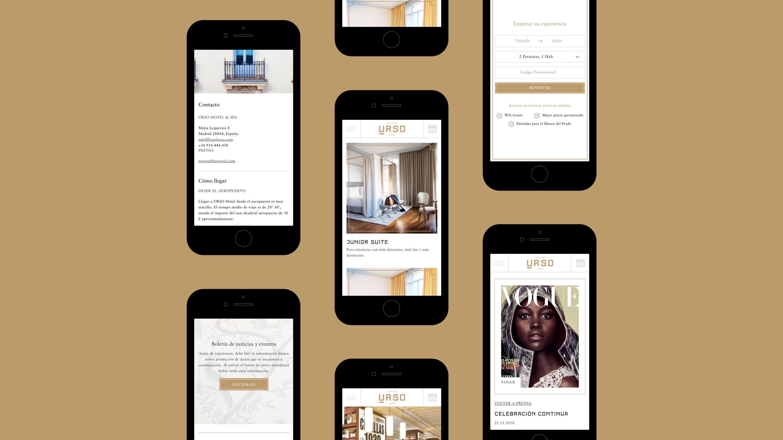 Urso hotel web mobile